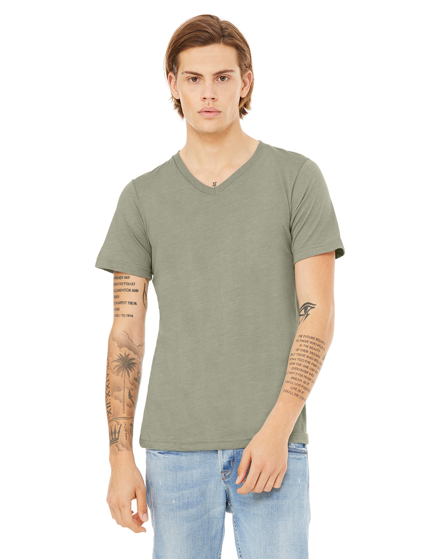 Bella + Canvas Unisex Jersey Short-Sleeve V-Neck T-Shirt HEATHER STONE
