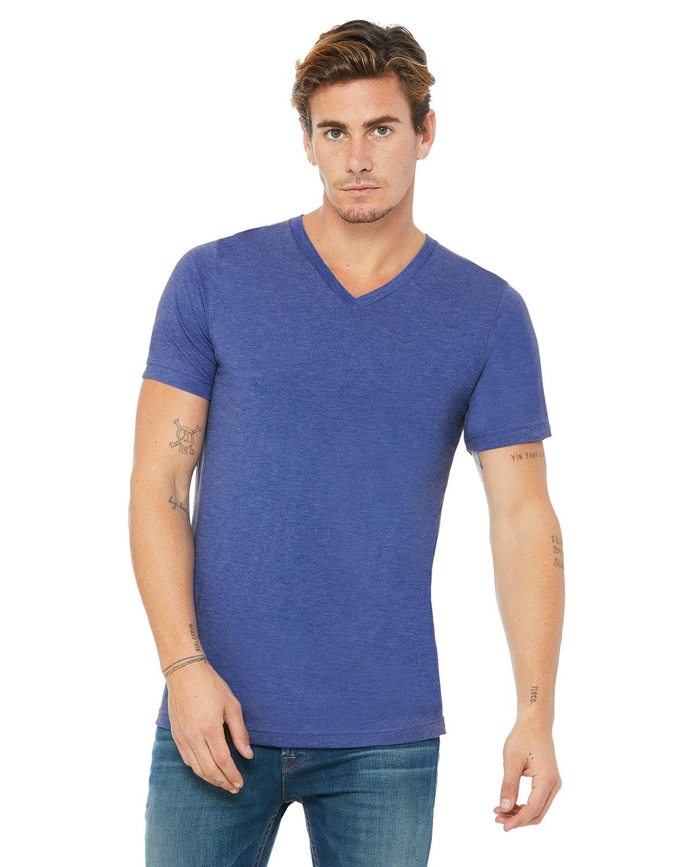 Bella + Canvas Unisex Jersey Short-Sleeve V-Neck T-Shirt HTHR TRUE ROYAL