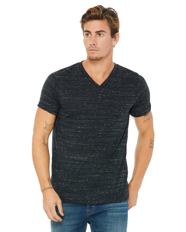 Bella + Canvas Unisex Jersey Short-Sleeve V-Neck T-Shirt BLACK MARBLE