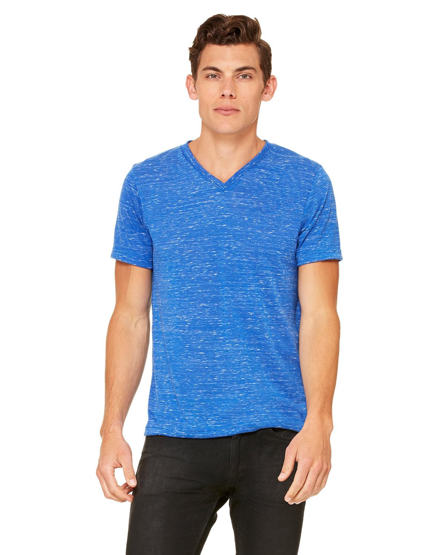Bella + Canvas Unisex Jersey Short-Sleeve V-Neck T-Shirt TRUE ROYAL MRBLE