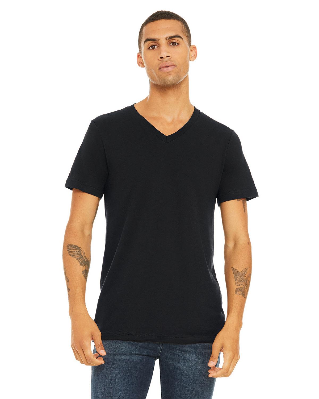 Bella + Canvas Unisex Jersey Short-Sleeve V-Neck T-Shirt VINTAGE BLACK