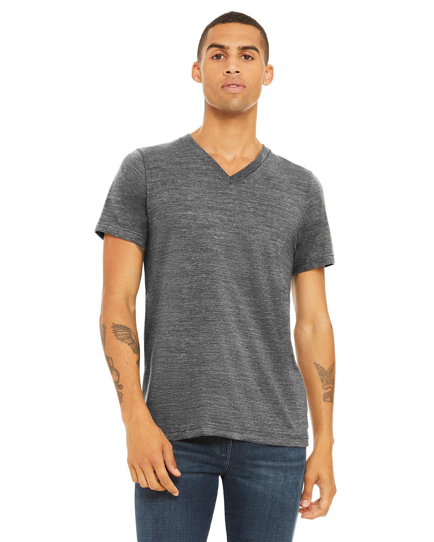 Bella + Canvas Unisex Jersey Short-Sleeve V-Neck T-Shirt ASPHALT SLUB