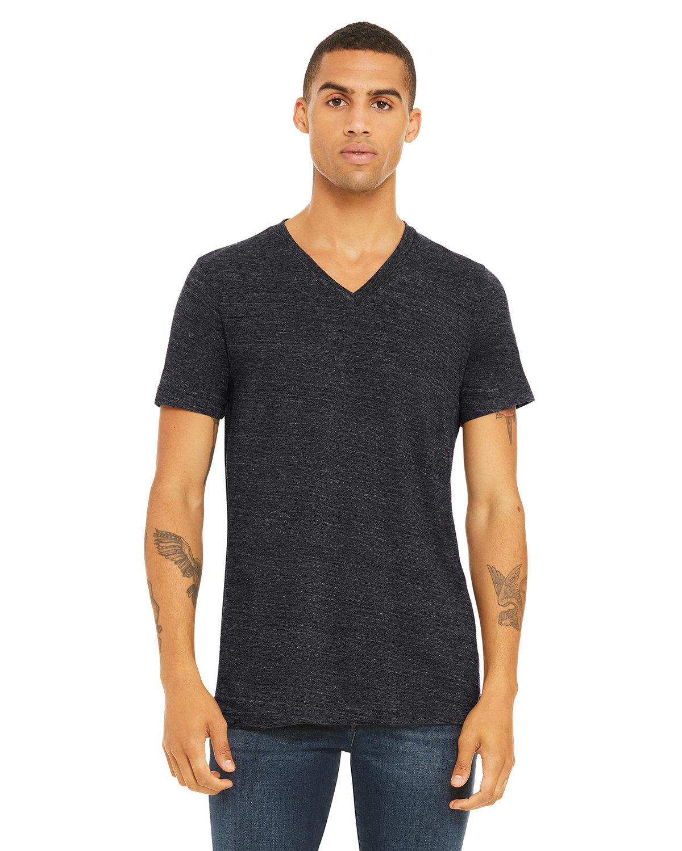 Bella + Canvas Unisex Jersey Short-Sleeve V-Neck T-Shirt CHRCL BLK SLUB