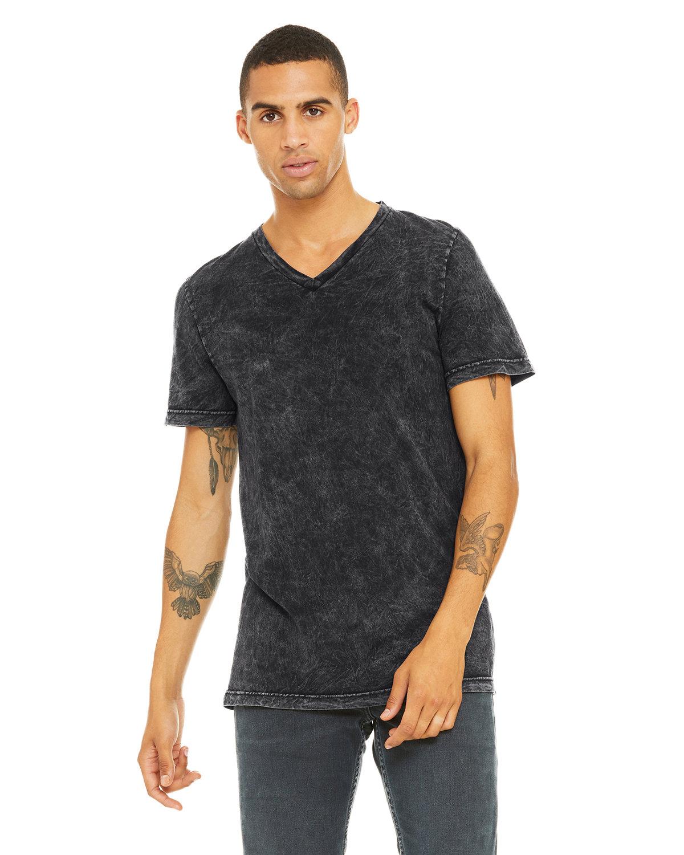 Bella + Canvas Unisex Jersey Short-Sleeve V-Neck T-Shirt BLK MINERAL WASH
