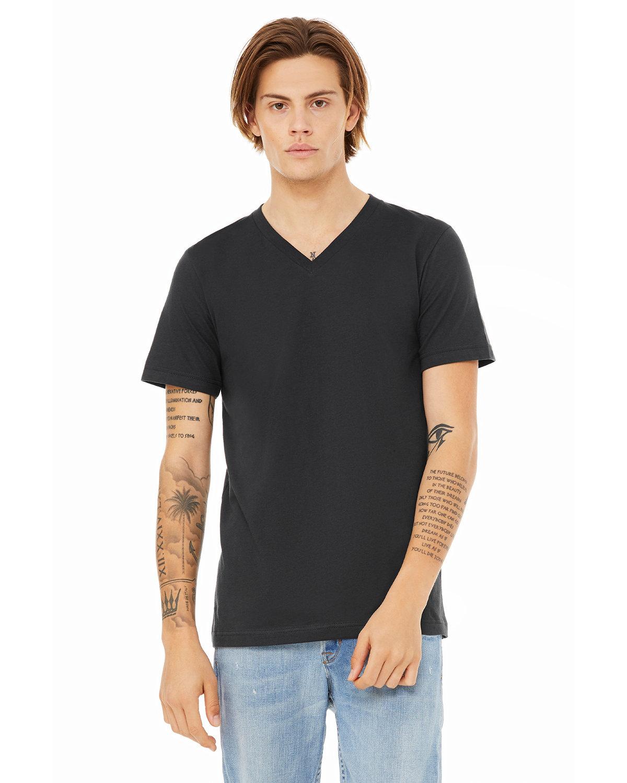 Bella + Canvas Unisex Jersey Short-Sleeve V-Neck T-Shirt DARK GREY