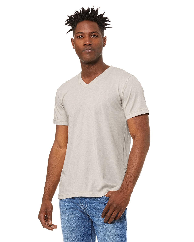 Bella + Canvas Unisex Jersey Short-Sleeve V-Neck T-Shirt HEATHER DUST
