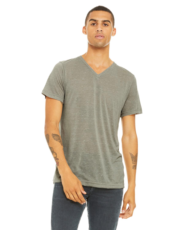 Bella + Canvas Unisex Jersey Short-Sleeve V-Neck T-Shirt STONE MARBLE