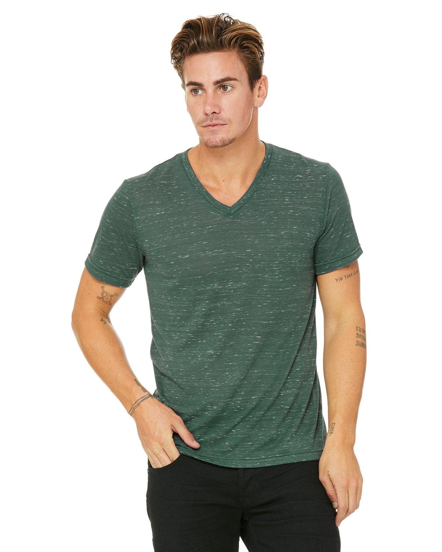 Bella + Canvas Unisex Jersey Short-Sleeve V-Neck T-Shirt FOREST MARBLE