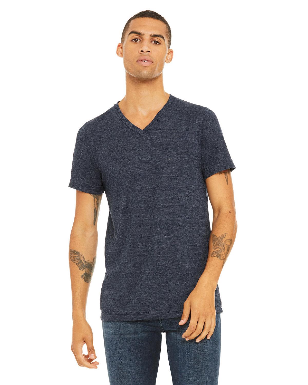 Bella + Canvas Unisex Jersey Short-Sleeve V-Neck T-Shirt NAVY SLUB