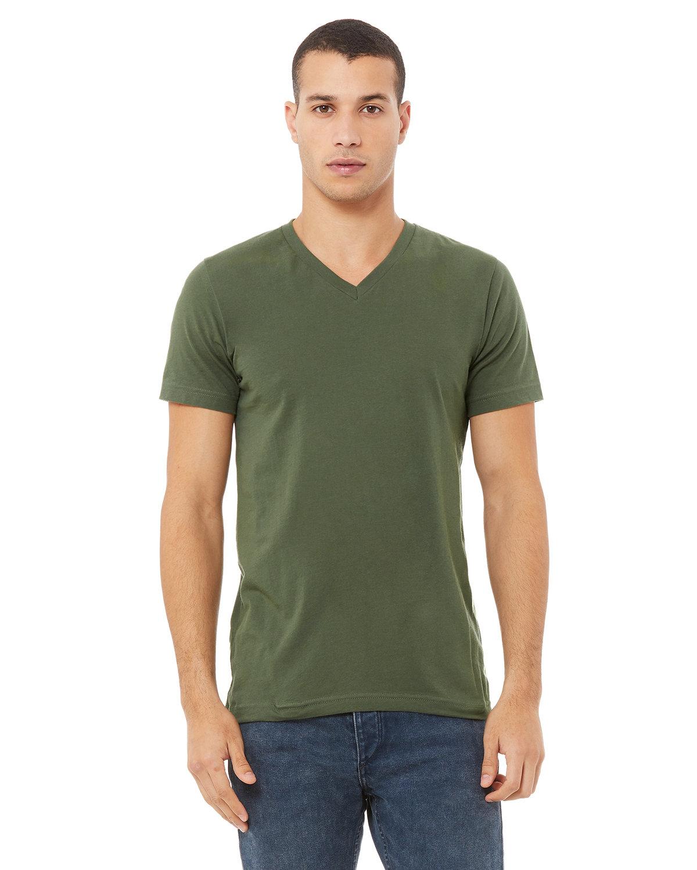 Bella + Canvas Unisex Jersey Short-Sleeve V-Neck T-Shirt MILITARY GREEN