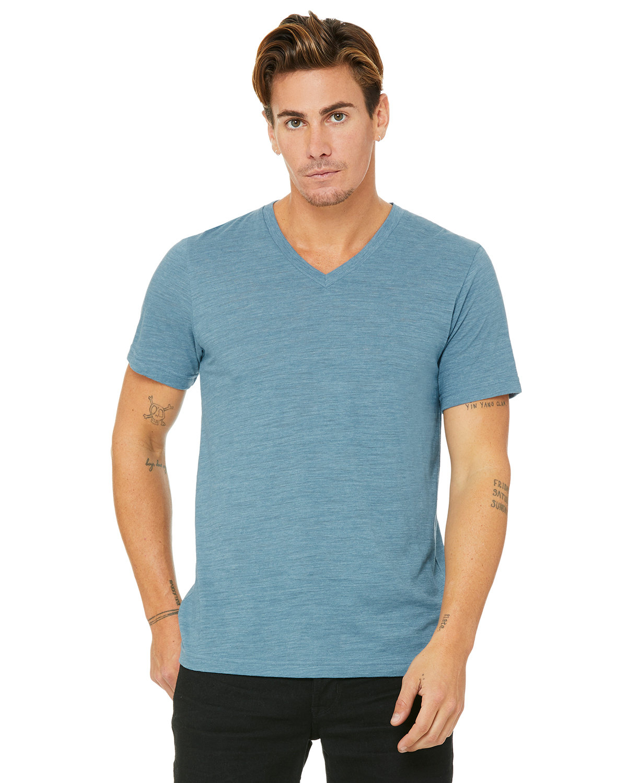 Bella + Canvas Unisex Jersey Short-Sleeve V-Neck T-Shirt DENIM SLUB