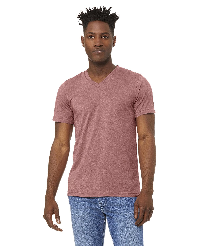 Bella + Canvas Unisex Jersey Short-Sleeve V-Neck T-Shirt HEATHER MAUVE