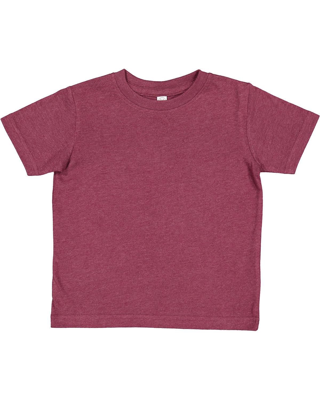 Rabbit Skins Toddler Premium Jersey T-Shirt VINTAGE BURGUNDY