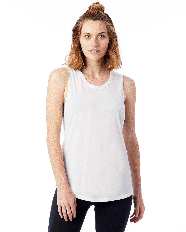 Alternative Ladies' Slinky-Jersey Muscle Tank WHITE