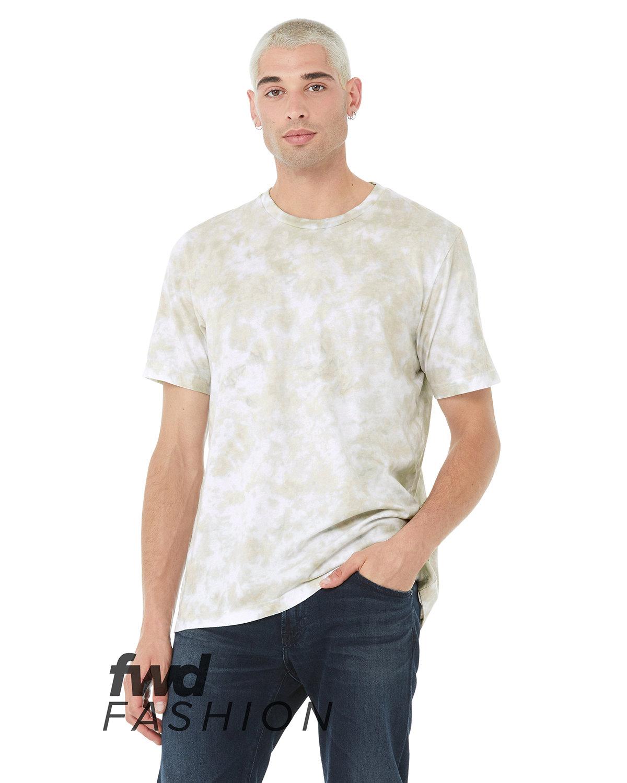 Bella + Canvas Unisex Tie Dye T-Shirt WHT/ OLV OIL TD