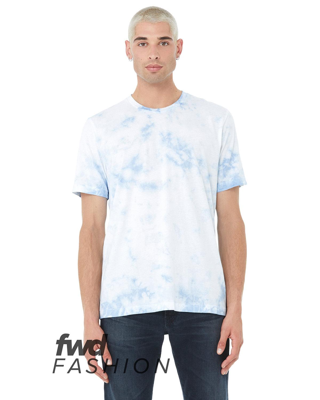 Bella + Canvas Unisex Tie Dye T-Shirt WHT/ SKY BLU TD