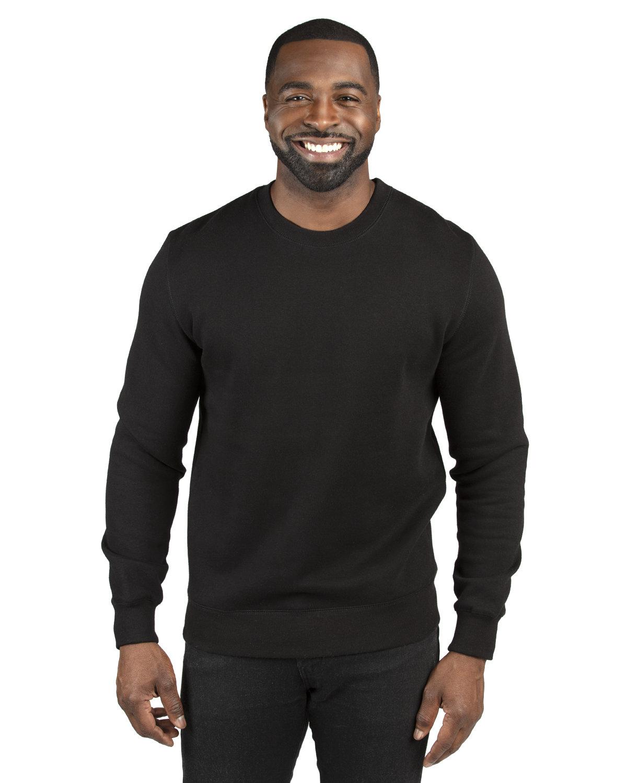 Threadfast Apparel Unisex Ultimate Crewneck Sweatshirt BLACK