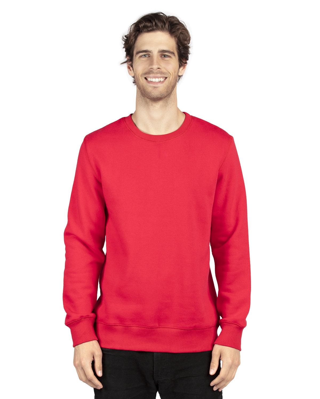 Threadfast Apparel Unisex Ultimate Crewneck Sweatshirt RED