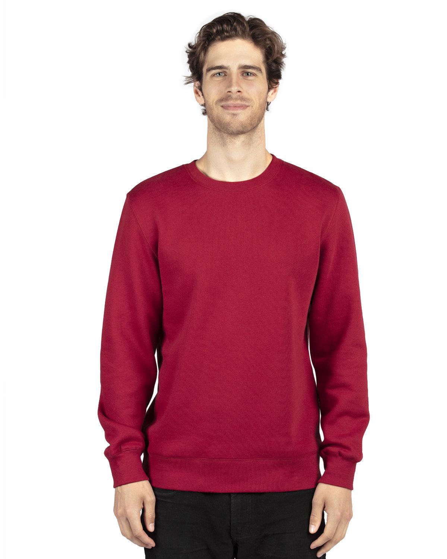 Threadfast Apparel Unisex Ultimate Crewneck Sweatshirt BURGUNDY