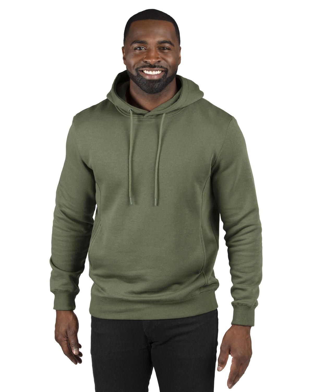 Threadfast Apparel Unisex Ultimate Fleece Pullover Hooded Sweatshirt ARMY