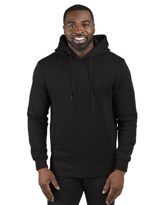 Threadfast Apparel Unisex Ultimate Fleece Pullover Hooded Sweatshirt BLACK
