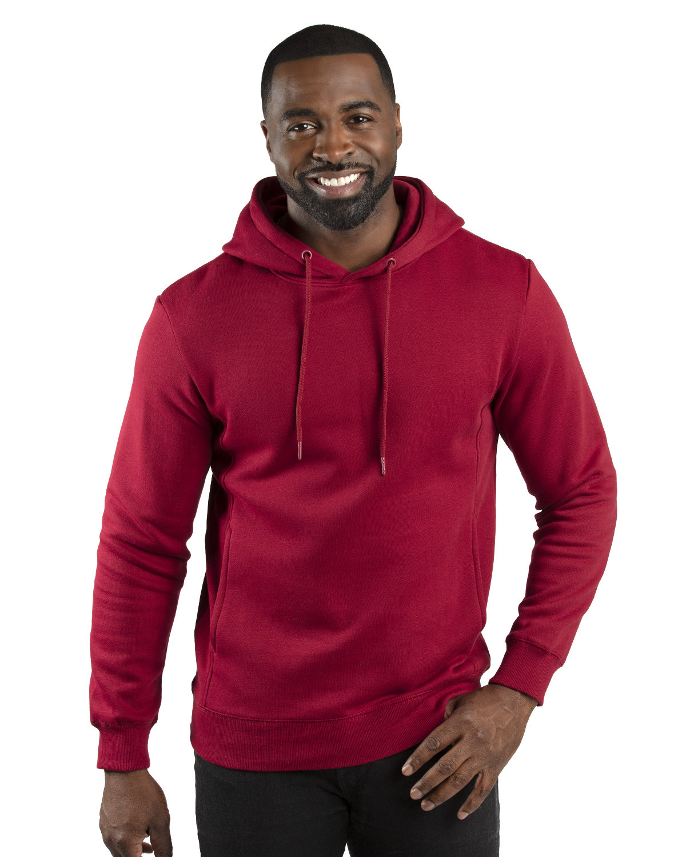 Threadfast Apparel Unisex Ultimate Fleece Pullover Hooded Sweatshirt BURGUNDY