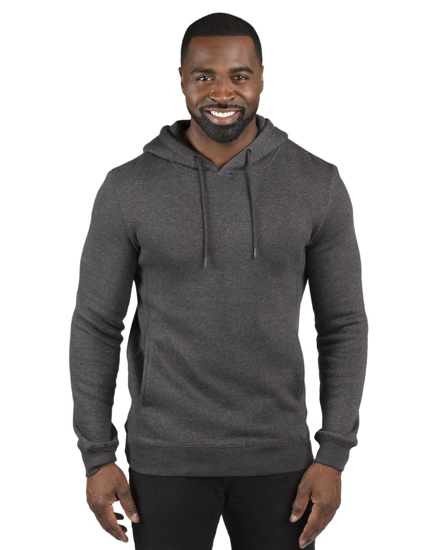 Threadfast Apparel Unisex Ultimate Fleece Pullover Hooded Sweatshirt CHARCOAL HEATHER