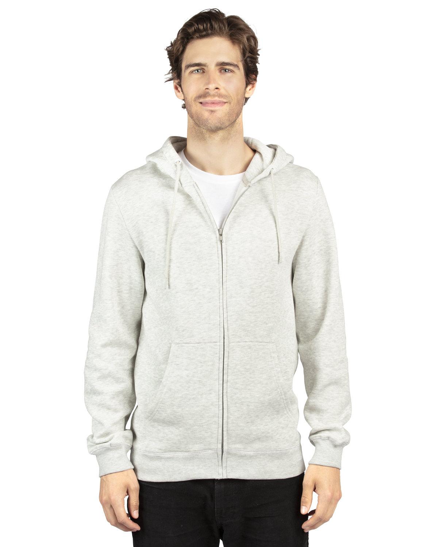 Threadfast Apparel Unisex Ultimate Fleece Full-Zip Hooded Sweatshirt OATMEAL HEATHER