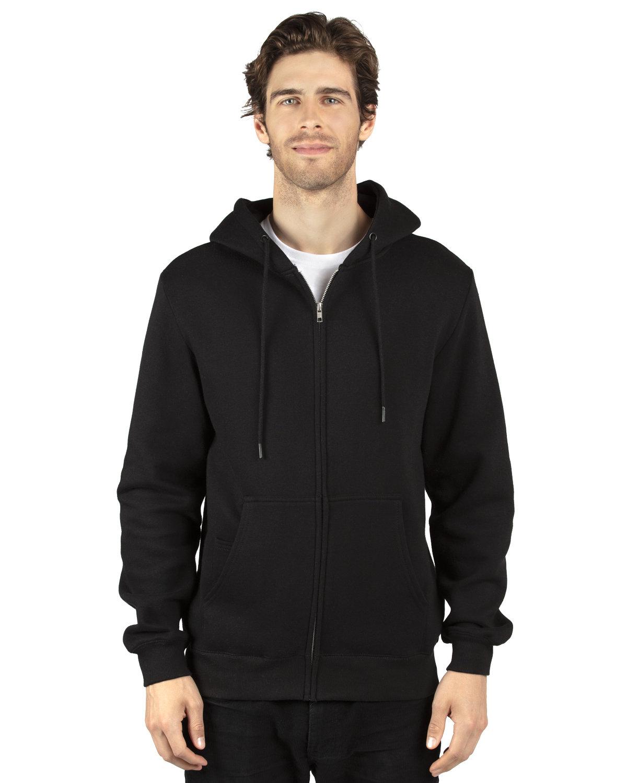 Threadfast Apparel Unisex Ultimate Fleece Full-Zip Hooded Sweatshirt BLACK