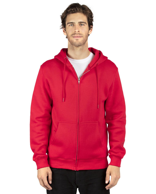 Threadfast Apparel Unisex Ultimate Fleece Full-Zip Hooded Sweatshirt RED