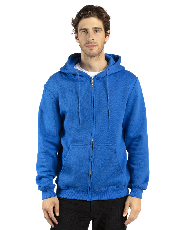 Threadfast Apparel Unisex Ultimate Fleece Full-Zip Hooded Sweatshirt ROYAL