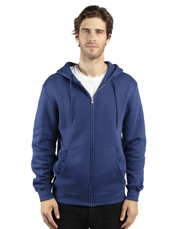 Threadfast Apparel Unisex Ultimate Fleece Full-Zip Hooded Sweatshirt NAVY
