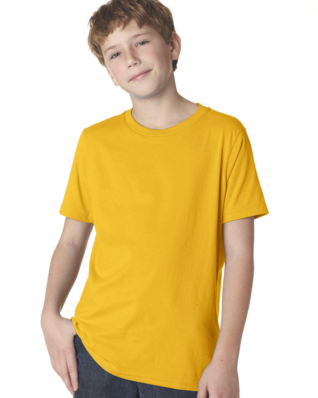 Next Level Youth Boys' Cotton Crew GOLD
