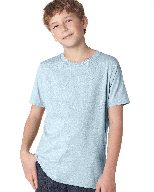 Next Level Youth Boys' Cotton Crew LIGHT BLUE