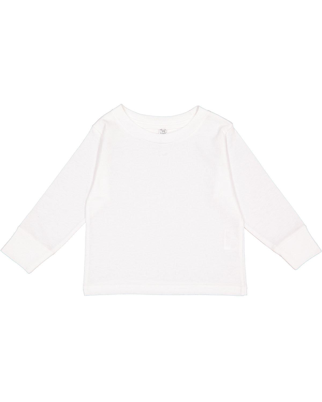 Rabbit Skins Toddler Long-Sleeve T-Shirt WHITE