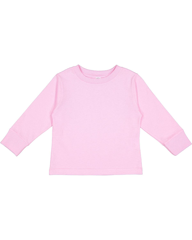 Rabbit Skins Toddler Long-Sleeve T-Shirt PINK