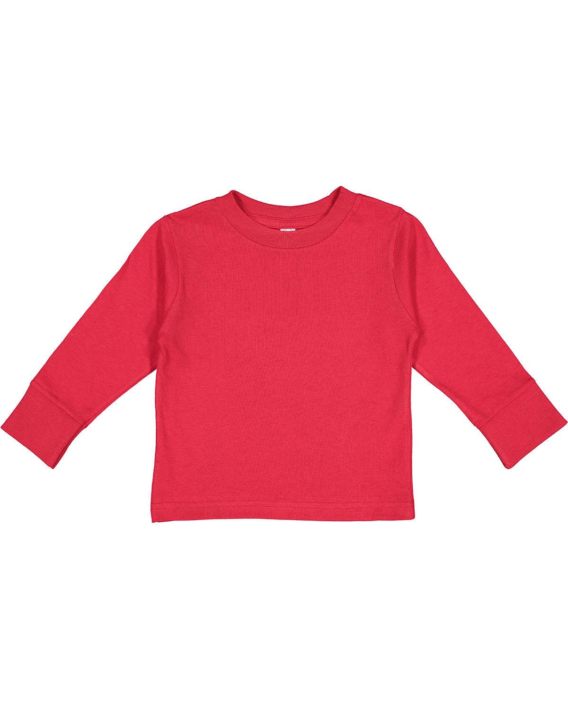 Rabbit Skins Toddler Long-Sleeve T-Shirt RED