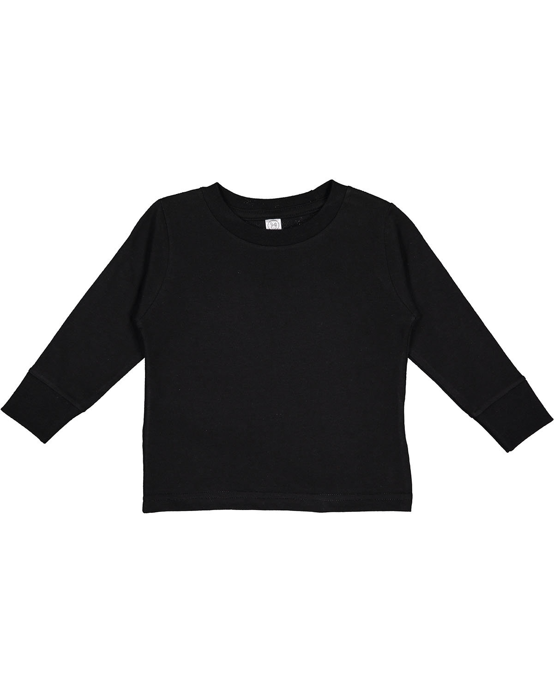 Rabbit Skins Toddler Long-Sleeve T-Shirt BLACK