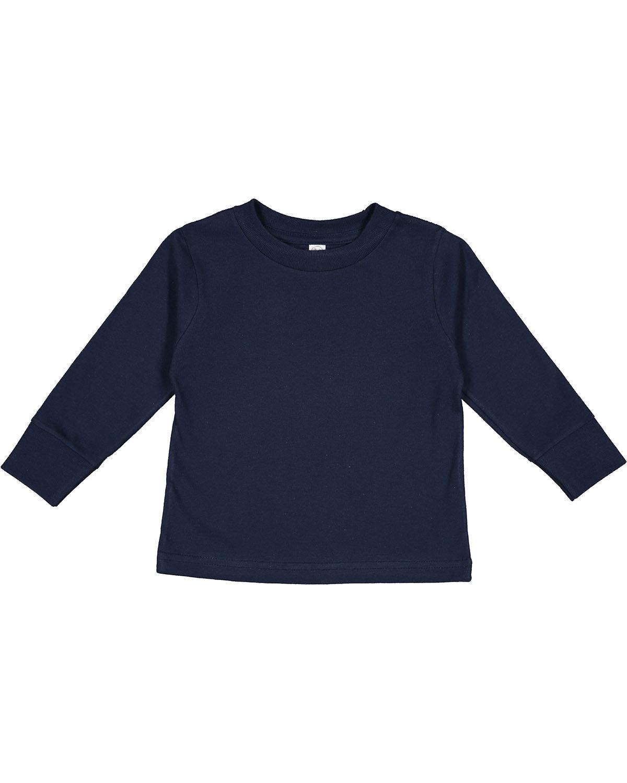 Rabbit Skins Toddler Long-Sleeve T-Shirt NAVY