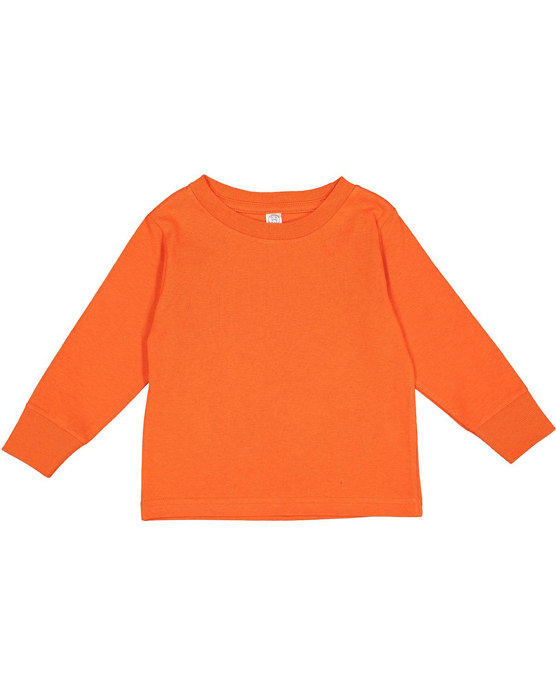 Rabbit Skins Toddler Long-Sleeve T-Shirt ORANGE