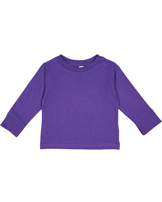 Rabbit Skins Toddler Long-Sleeve T-Shirt PURPLE