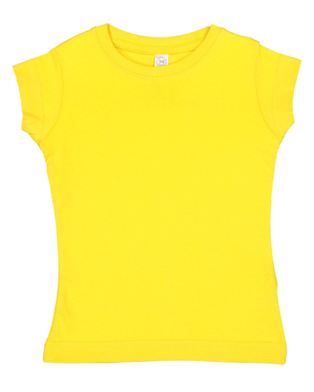 Rabbit Skins Toddler Girls' Fine Jersey T-Shirt YELLOW