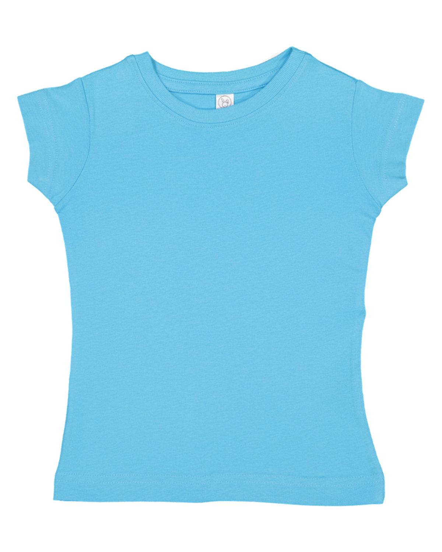 Rabbit Skins Toddler Girls' Fine Jersey T-Shirt AQUA