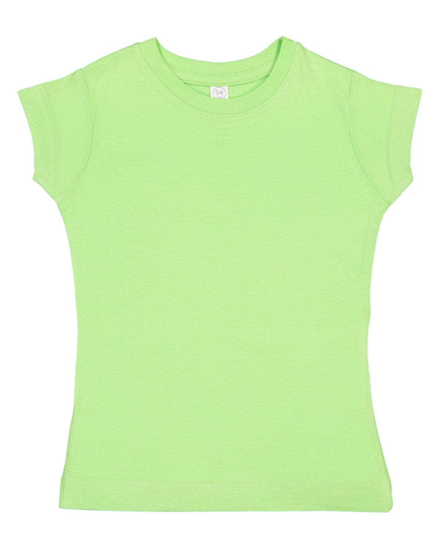 Rabbit Skins Toddler Girls' Fine Jersey T-Shirt KEY LIME