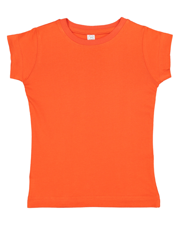 Rabbit Skins Toddler Girls' Fine Jersey T-Shirt ORANGE