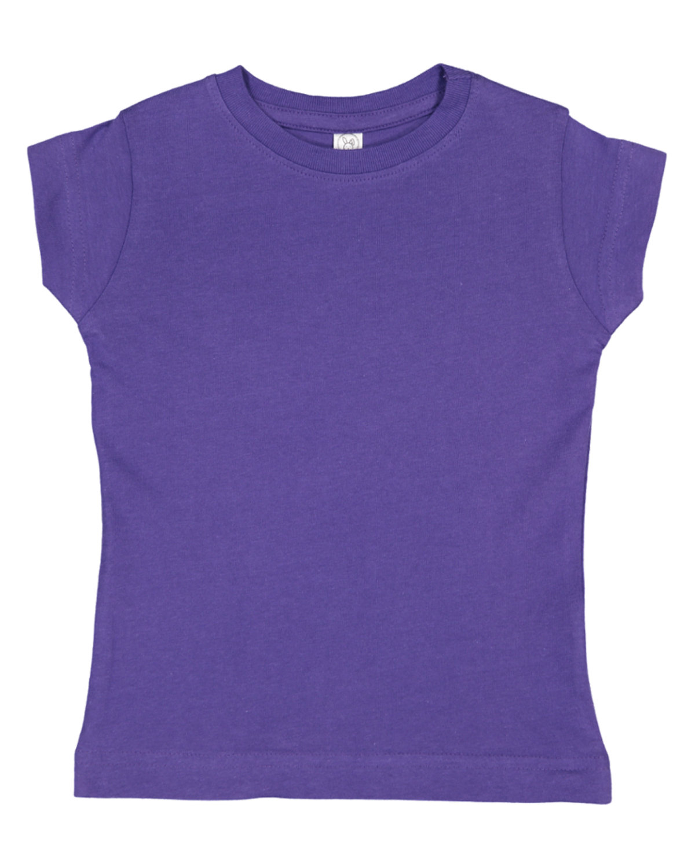 Rabbit Skins Toddler Girls' Fine Jersey T-Shirt PURPLE