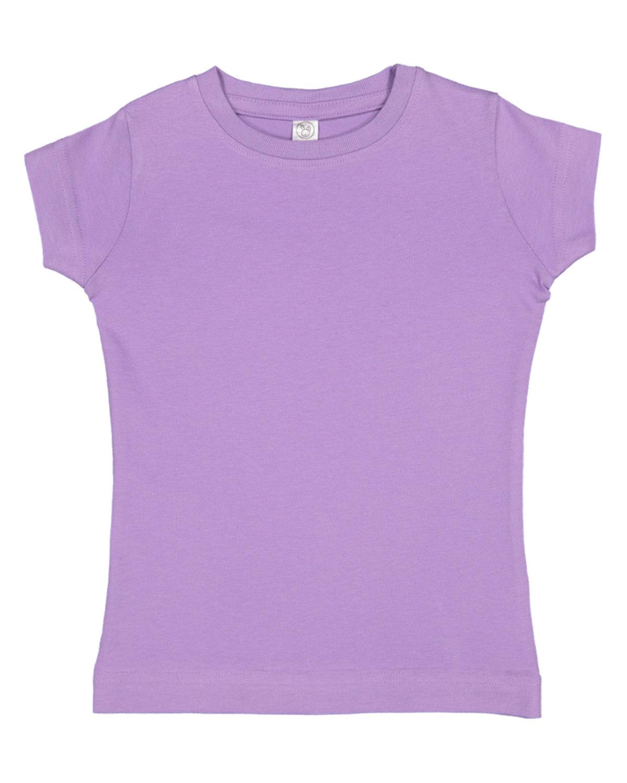 Rabbit Skins Toddler Girls' Fine Jersey T-Shirt LAVENDER