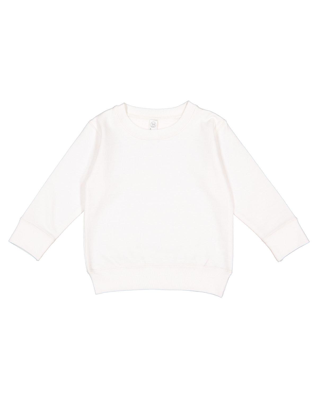 Rabbit Skins Toddler Fleece Sweatshirt WHITE