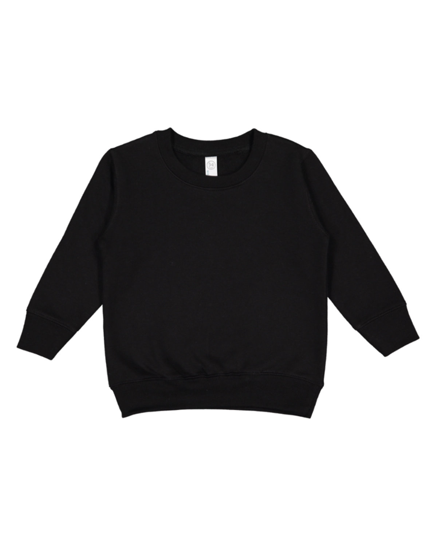 Rabbit Skins Toddler Fleece Sweatshirt BLACK