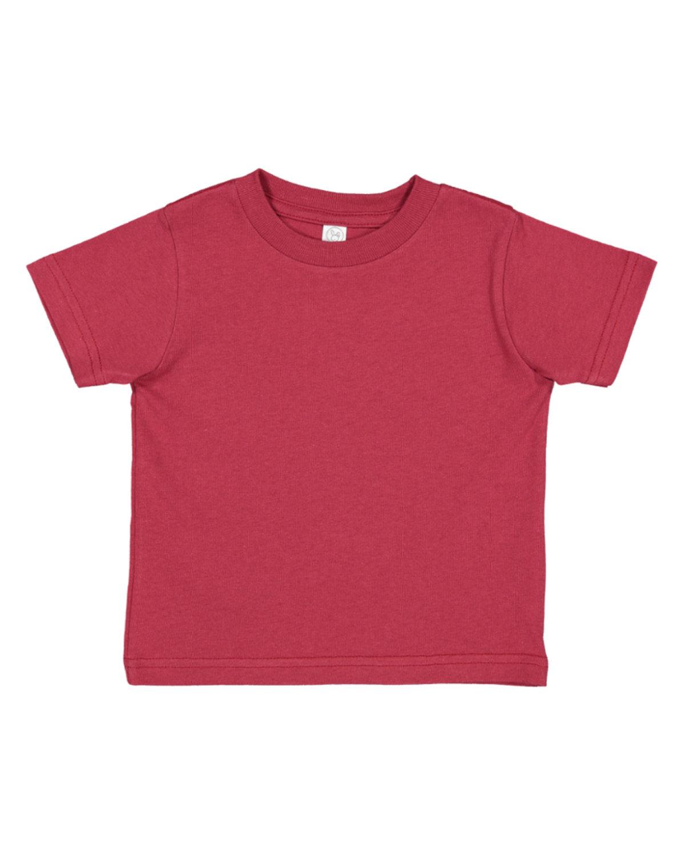 Rabbit Skins Toddler Fine Jersey T-Shirt GARNET